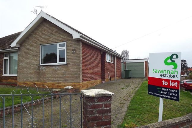 Thumbnail Bungalow to rent in St. Edmunds Road, Acle, Norwich