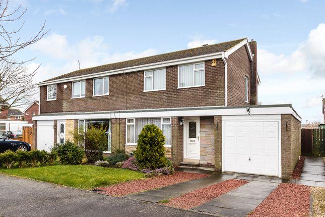 Thumbnail Semi-detached house for sale in Glenside, Ellington, Morpeth