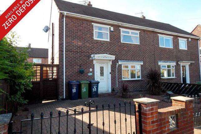 Thumbnail Semi-detached house to rent in Toner Avenue, Hebburn