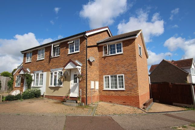 Thumbnail Semi-detached house for sale in Gainsborough Drive, Lawford, Manningtree