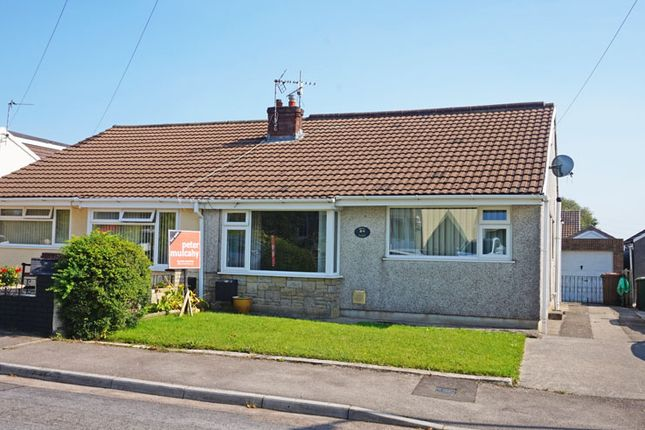 Thumbnail Semi-detached bungalow for sale in Hadrians Close, Gelligaer, Hengoed