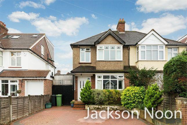 Thumbnail Semi-detached house for sale in Bradford Drive, Ewell, Epsom