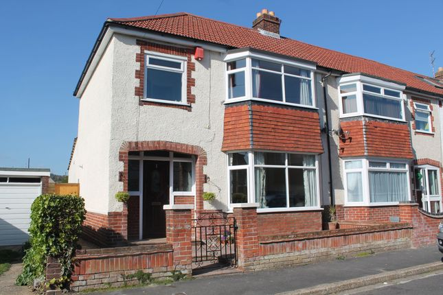 Thumbnail End terrace house to rent in Pangbourne Avenue, Cosham, Portsmouth
