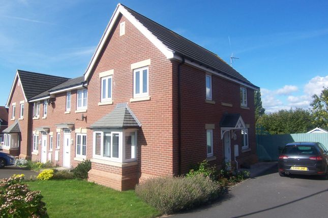 Thumbnail End terrace house to rent in Sanderling Way, Forest Town, Mansfield