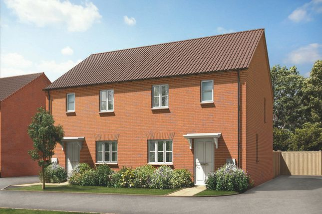 Thumbnail Semi-detached house for sale in Brockhall Road, Flore, Northampton