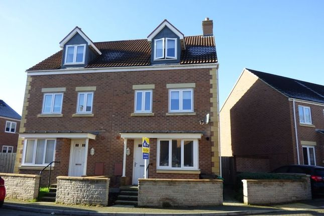Thumbnail Town house for sale in Green Crescent, Frampton Cotterell, Bristol, Gloucestershire