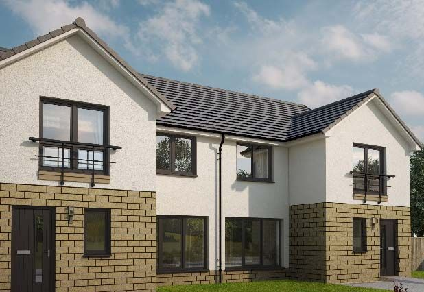 "Thumbnail Semi-detached house for sale in ""Calico At Strathearn Gardens"" At Townhead, Auchterarder, Perthshire"