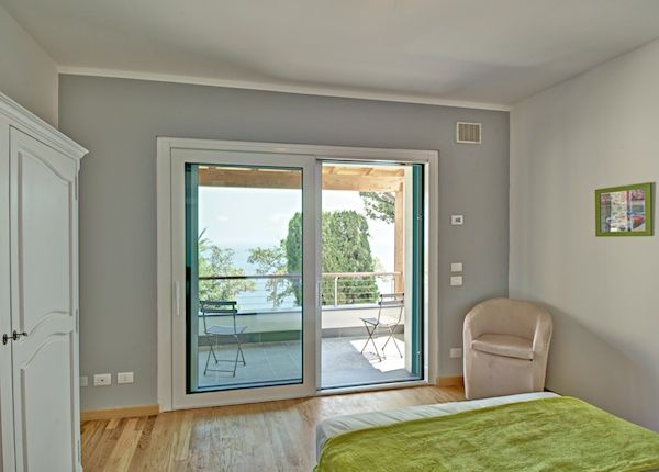 Bedroom of Dominio Mare, Bergeggi, Savona, Liguria, Italy
