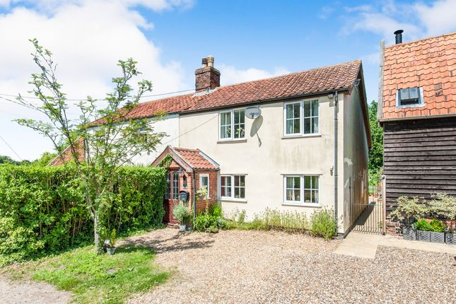 Thumbnail Semi-detached house for sale in High Common, North Lopham, Diss