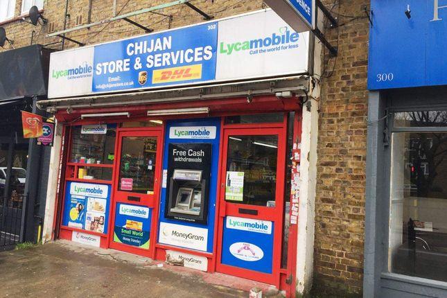 Thumbnail Retail premises for sale in Brockley Road, London