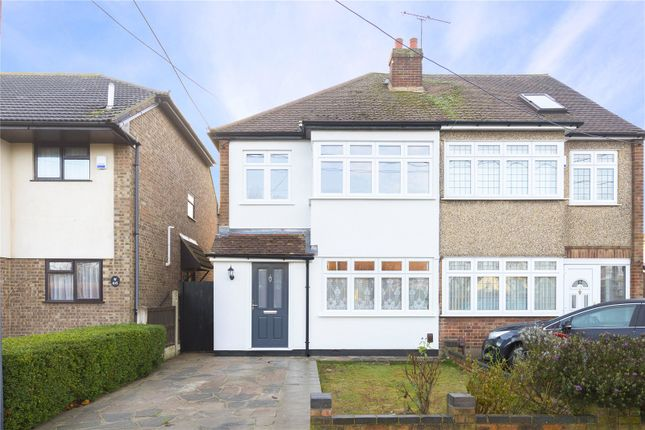 Thumbnail Semi-detached house for sale in Kings Gardens, Upminster, Essex