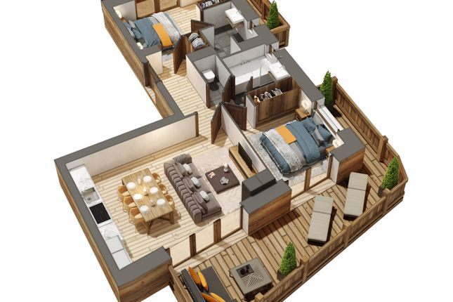 Thumbnail Apartment for sale in Route De La Turche, Haute-Savoie, Rhône-Alpes, France