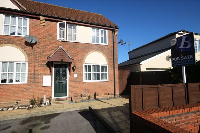 Thumbnail End terrace house for sale in Dudley Close, Boreham, Chelmsford, Essex