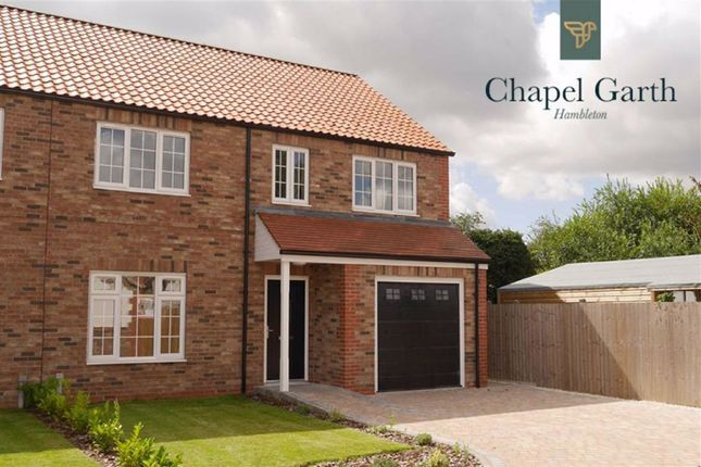 Thumbnail Semi-detached house for sale in Chapel Close, Hambleton, Selby