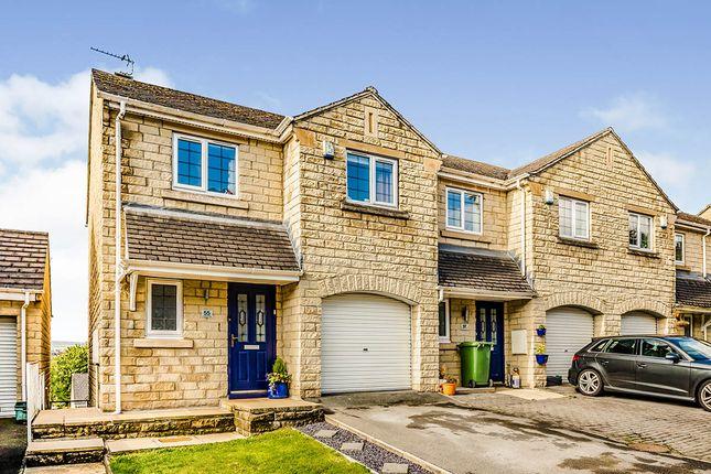 Thumbnail End terrace house for sale in Longwood Gate, Longwood, Huddersfield, West Yorkshire