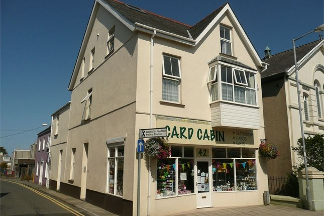 Thumbnail Town house for sale in Commerical Property Wth Flats At, 42 West Street, Fishguard, Pembrokeshire