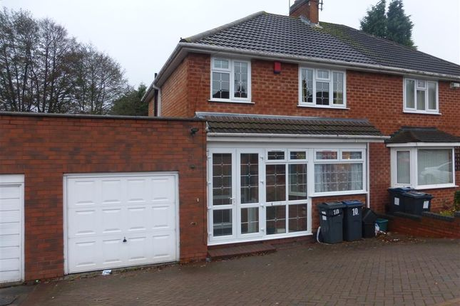 Thumbnail Semi-detached house to rent in Craythorne Avenue, Handsworth Wood, Birmingham