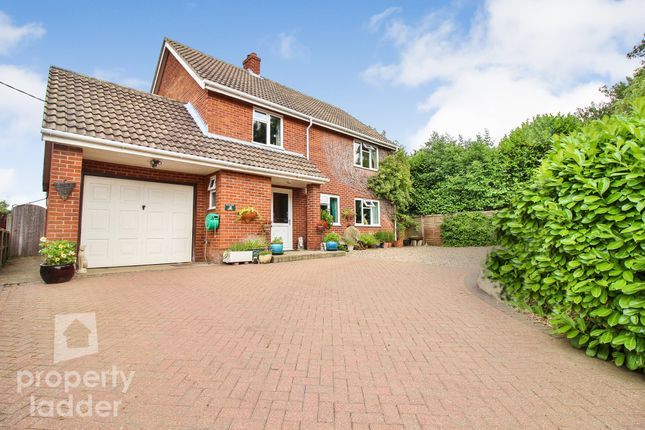 Thumbnail Detached house for sale in The Street, Tharston, Norwich