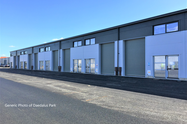 Thumbnail Industrial to let in Daedalus Park, Solent Enterprise Zone, Lee-On-The-Solent