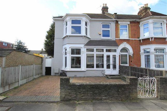 Thumbnail End terrace house for sale in Hazeldene Road, Goodmayes, Essex