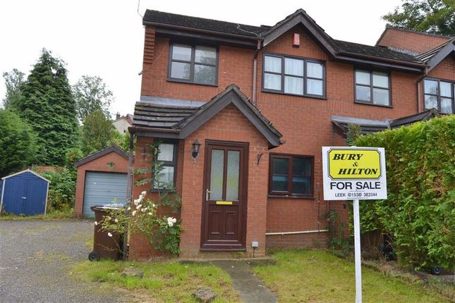 Thumbnail Semi-detached house for sale in Orchard Gardens, Leek, Leek