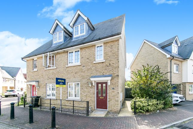 Thumbnail Semi-detached house for sale in Cambie Crescent, Colchester