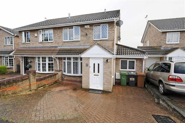Thumbnail Semi-detached house for sale in Oakley Drive, Wellingborough