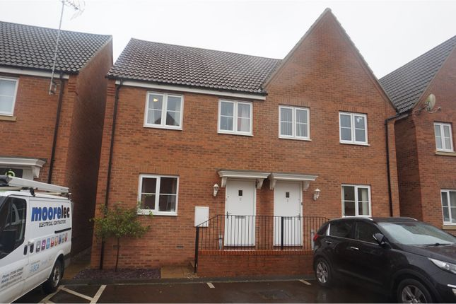 Thumbnail Semi-detached house for sale in Churn Court, King's Lynn