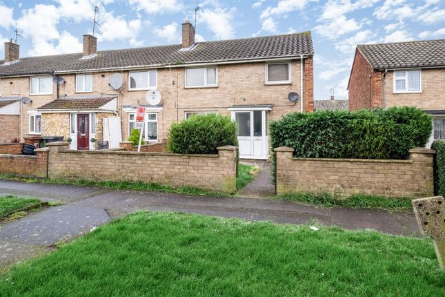 Thumbnail End terrace house for sale in Thoresby Court, Corby