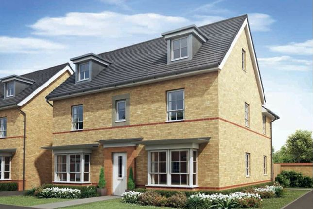 "Thumbnail Detached house for sale in ""Marlowe"" at Howes Drive, Marston Moretaine, Bedford"