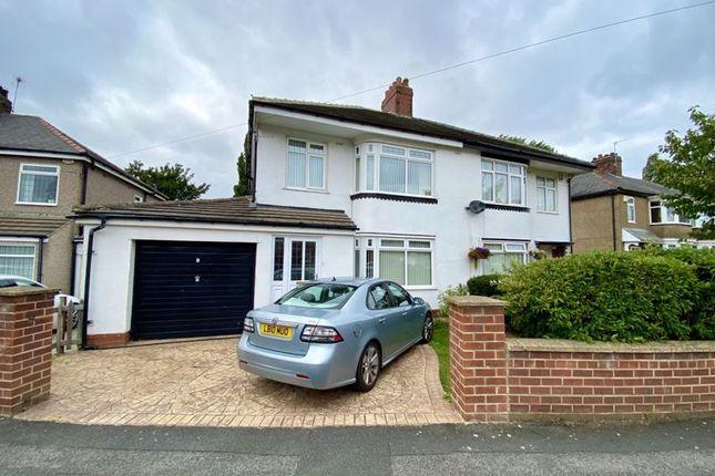 Thumbnail Semi-detached house for sale in Highfield Crescent, Hartburn, Stockton