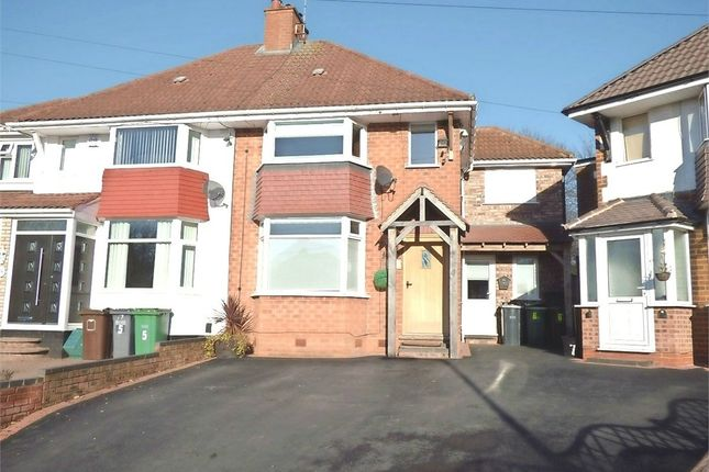 Thumbnail Semi-detached house for sale in Wentworth Road, Solihull, West Midlands