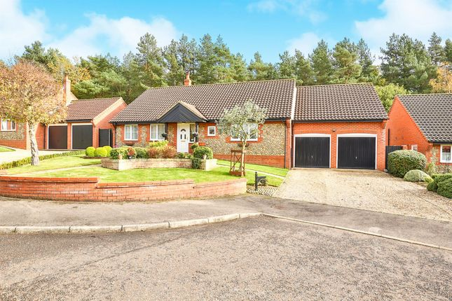 Thumbnail Detached bungalow for sale in Gorse Close, Fakenham