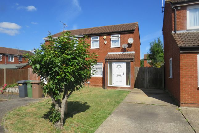 Thumbnail Semi-detached house for sale in Swallow Close, Luton