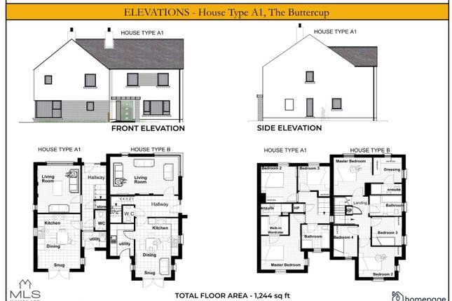 Thumbnail Semi-detached house for sale in The Buttercup, Type A1, Carriage Court, Magilligan
