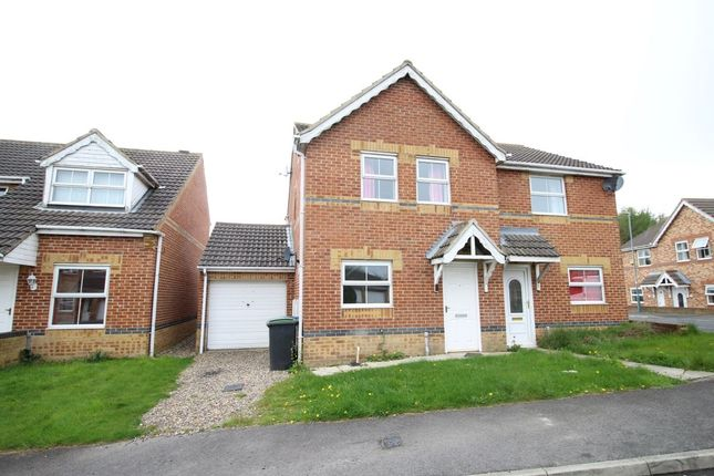 Thumbnail Semi-detached house for sale in Bluebell Close, Leadgate, Consett