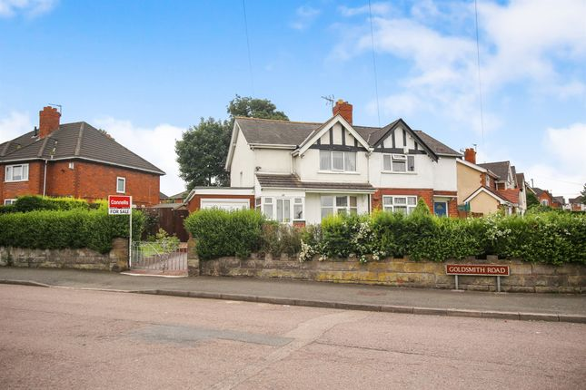 Thumbnail Semi-detached house for sale in Goldsmith Road, Walsall