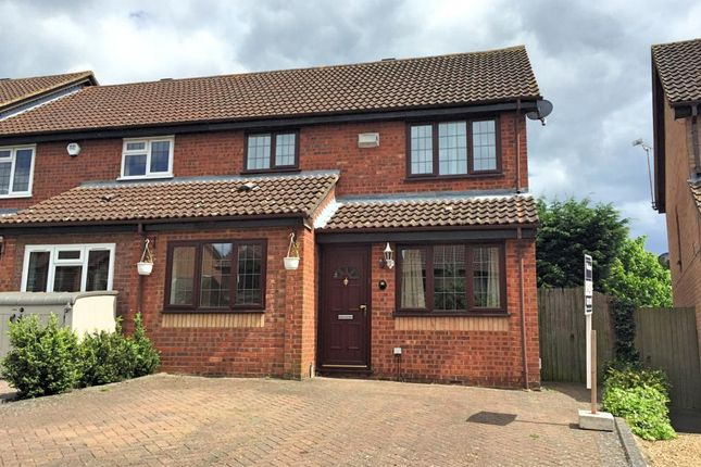 Thumbnail End terrace house to rent in The Campions, Borehamwood, Hertfordshire