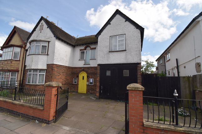 Thumbnail Town house for sale in East Park Road, Evington, Leicester