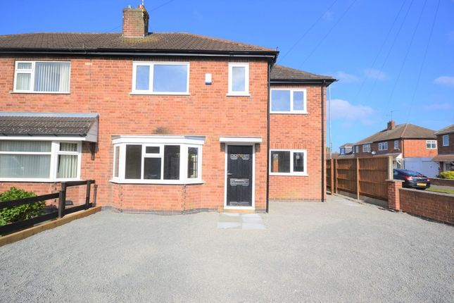 Thumbnail Semi-detached house for sale in Kings Drive, Leicester Forest East, Leicester