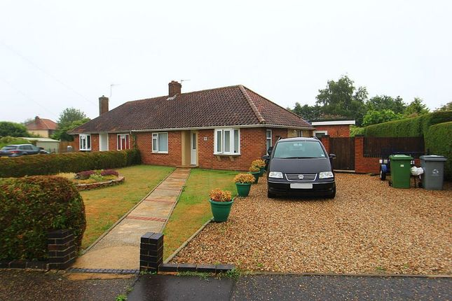 Thumbnail Semi-detached bungalow for sale in Adams Road, Norwich, Norfolk