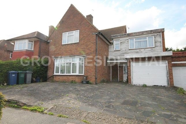 Thumbnail Detached house for sale in Harrowes Meade, Edgware, Middlesex.