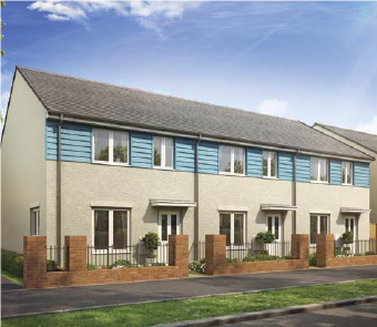 3 bedroom terraced house for sale in Gardenia Place, Exeter