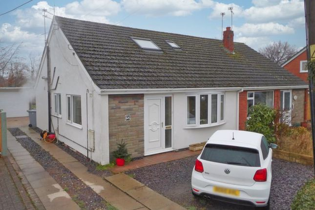 Thumbnail Semi-detached bungalow for sale in Stock Lane, Wybunbury, Cheshire