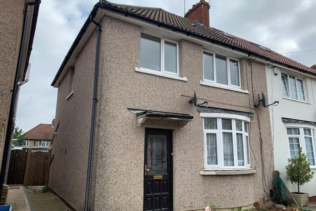 Thumbnail End terrace house to rent in Percival Road, Feltham