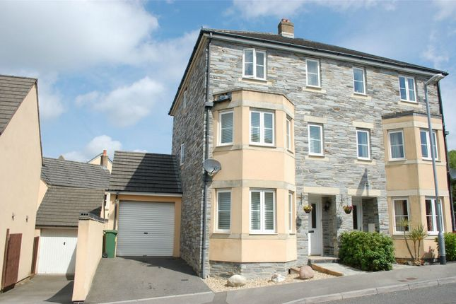 Thumbnail Semi-detached house to rent in Larcombe Road, St Austell, Cornwall