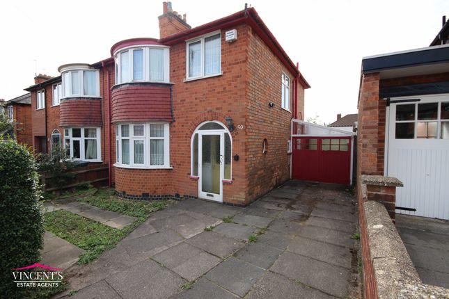 Thumbnail Semi-detached house for sale in Edward Avenue, Leicester