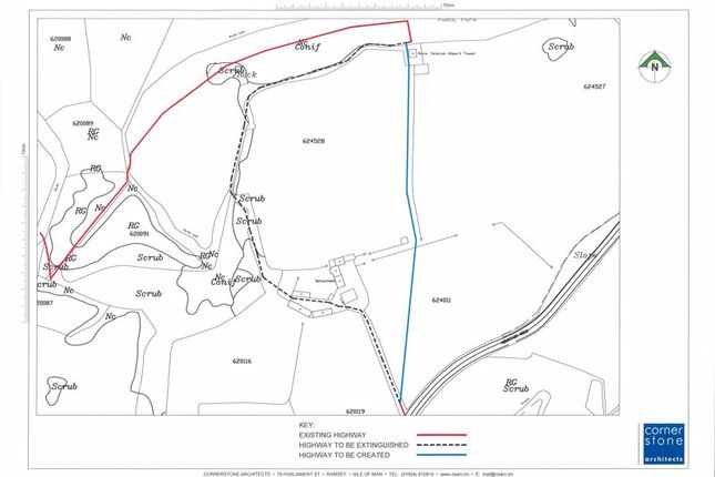 Highway Plans of Tower Farm, Mountain Road, Maughold IM7