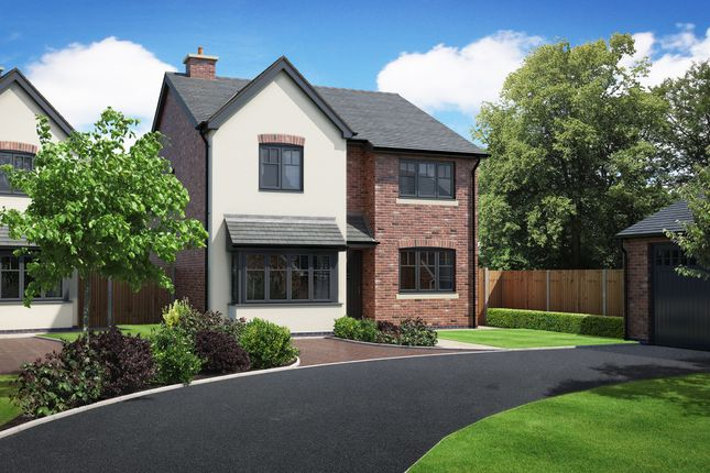 Thumbnail Detached house for sale in Plots 1, Hunters Chase, Bryn Perthi, Arddleen