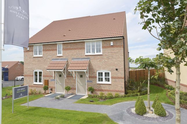 "Thumbnail Semi-detached house for sale in ""Burton"" at Hollygate Lane, Cotgrave, Nottingham"
